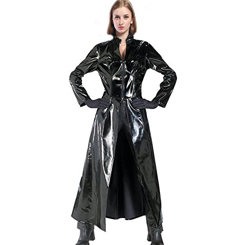 XCOSER Womens PVC Jacket Leather Coat Trinity Cosplay Costume for Halloween S -