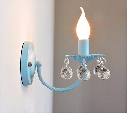 - LED Wall Lights Wall Sconce Light Fixture Up Down Wall LightingKorean Style Green Blue Crystal Wall lamp Bedroom Wall lamp Princess Room Children's Room Bedside Wall Lights Wall Lights