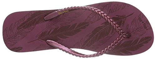 Feather Bout flip flop Slim Rouge 654 Ouvert Sangria Femme Sandales Rot ZBIEwq
