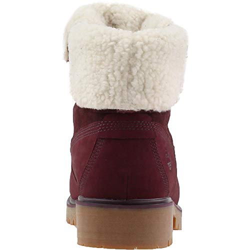 WP Port Fleece Womens Burgundy D Boot Timberland Jayne F Teddy Dark qgBxEU