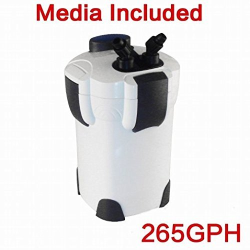 Pingkay 3-stage External Aquarium Filter 265gph with Builtin Pump Kit Canisterwith by (Aquarium External Filters)