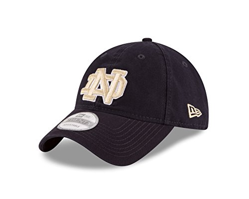 check out 075a2 38d9b NCAA Notre Dame Fighting Irish Unisex New Era NCAA Core Shore Primary  9TWENTY Adjustable Cap, Navy, One Size - Buy Online in Oman.   Sports  Products in Oman ...