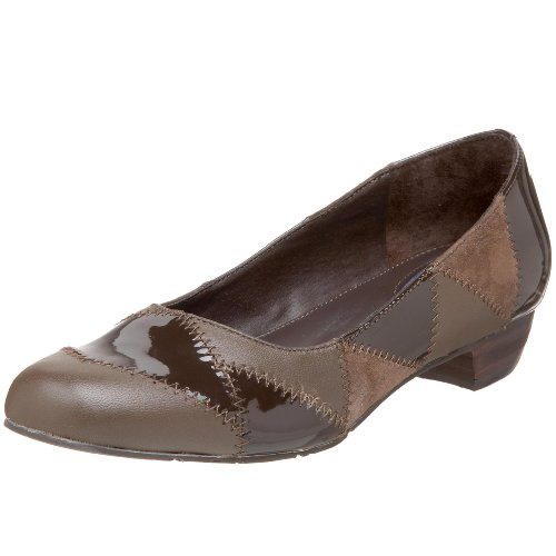 Drew Shoe Womens Kerry Flat Brown / Patent / Suede