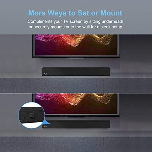 Sound Bar, BESTISAN 100 Watt Sound Bars for TV with Built in Subwoofer and Sub-Out Port Home Theater System (32 inch… 6