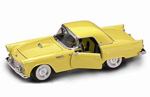 1955 Ford Thunderbird Convertible (1955 Ford Thunderbird Convertible with Removable Bonnet, Yellow - Road Signature 92068 - 1/18 Scale Diecast Model Toy Car)