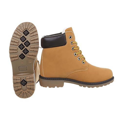 lacet Braun femme Design Bloc à et Bottines Cfc Chaussures 06 Ital Bottes bottines TvORHqH0w