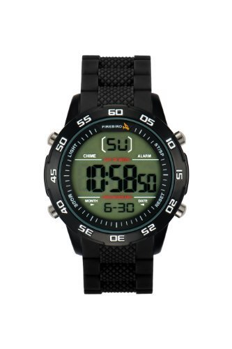 Firebird Tekno Men's Digital Watch with LCD Dial Digital Display and Black Rubber Strap FB120B