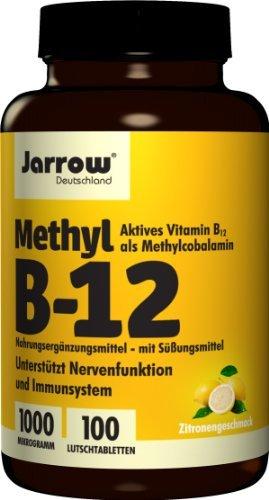 Jarrow Deutschland Methyl B12 1000 µg Lutschtabletten mit Zitronengeschmack, 100 Stück, VEGAN, 1er Pack (1 x 100 Stück)
