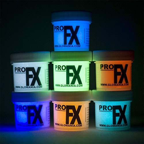 7 Color Set of 1oz Glow in The Dark Paint, Luminous, Glowing
