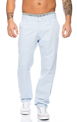 Rock Creek Men's Chinos Casual Pants Textile Trousers RC-2083 [RC-2083 - Baby Blue - W29 L30]