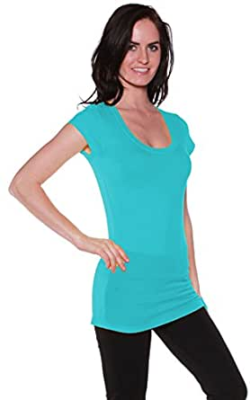Active Basic Women's Short Sleeve Scoop Neck Tees