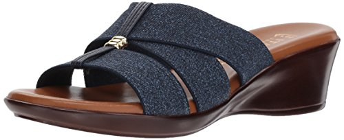 Shoemakers Jeanna ITALIAN Slide Women's Denim Sandal Tvnwdqf