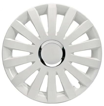 4 Tapacubos Tapacubos tipo Sail White Color Blanco Apto para Seat 14 pulgadas Llantas de Acero: Amazon.es: Coche y moto