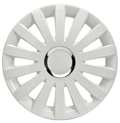 4 Tapacubos Tapacubos tipo Sail White Color Blanco Apto para Seat 15 pulgadas Llantas de Acero: Amazon.es: Coche y moto