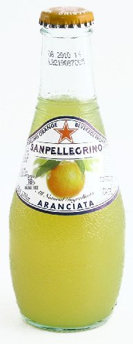 San Pellegrino Aranciata Sparking Beverage - 24/6 oz bottles