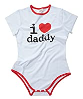 LittleForBig Adult Baby Onesie Diaper Lover (ABDL) Snap Crotch Romper Onesie Pajamas - I Love Daddy Pattern