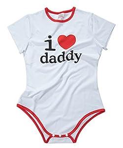 LittleForBig Adult Baby Onesie Diaper Lover (ABDL) Snap Crotch Romper Onesie Pajamas - I Love Daddy Pattern