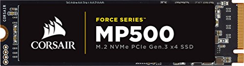 CORSAIR FORCE Series MP500 480GB NVMe PCIe Gen3 x4 M.2 SSD Solid State Storage, Up to 3,000MB/s 2 The CORSAIR NVMe PCIE boosts bandwidth, allowing you to access all of your data, load files and launch games with speeds up to 4x faster than the SATA 3.0 CORSAIR NVMe M.2 SSDs enable a new level of performance in a compact form-factor Additional error bit correction and improved data retention, while supporting the latest generation NAND