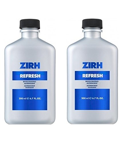 Zirh Refresh Invigorating Astringent, 6.7 oz + Schick Slim Twin ST for Dry Skin Facial Exfoliating Peel Gel with Natural Aqua, Tea Tree (150 ml) - Effectively but Gently Removes Dead Skin For All Skin Types (No scrub)- Revealing a Clear, Soft Skin with Healthy Glow