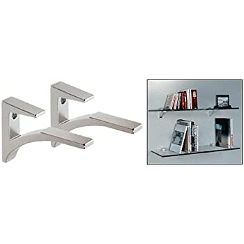 Amazoncom CRL Black Adjustable Glass Shelf Bracket Pair Home