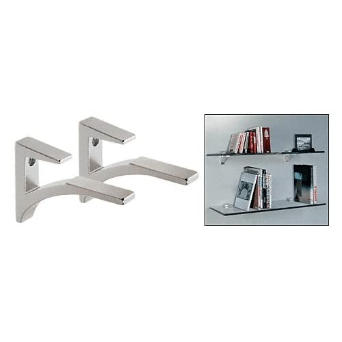 CRL Chrome - Aluminum Glass Shelf Bracket for 3/8 to 1/2 glass