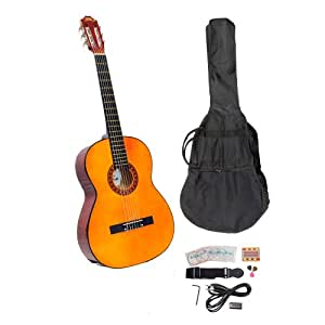 PYLE-PRO PGCKT40 39-Inch Classical Guitar Starter Package With Gig Bag, Strap, Picks, Tuner, and Strings