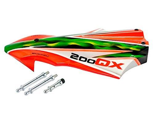 Microheli Airbrush Fiberglass Rocket Canopy (for MH Quadcopter Kit) by Microheli Co. by Microheli Co.