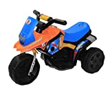 Brunte Turbo Battery Operated Sports Bike Orange Blue with light and sound