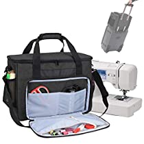 Teamoy Sewing Machine Bag, Travel Tote bag for Most Standard Sewing Machines and Accessories