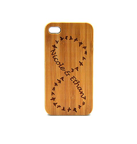 Krezy Case Real Wood iPhone 5s Case, infinity monogram iPhone 5s Case, eyes iPhone 5s Case, Wood iPhone Case,