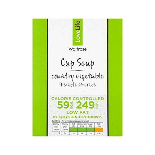 You Count Country Vegetable Cup Soup Waitrose Love Life 4 x 16.5g - Pack of 6