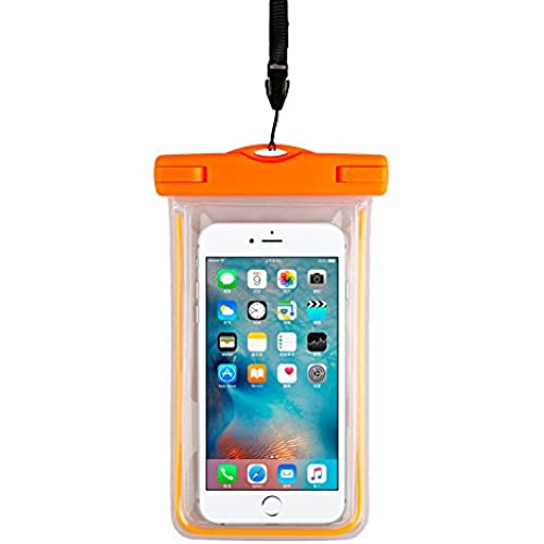 Leaber Universal Waterproof Case Best in Water Sports Equipment Cell Phone Dry Bag for Apple iPhone 6S 6,6S Plus, 5S 7, Samsung Galaxy S7, S6 Note 5 Sales
