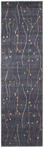 Nourison Cambridge (CG04) Blue Runner Area Rug, 2-Feet 3-Inches by 8-Feet (2'3 x 8')
