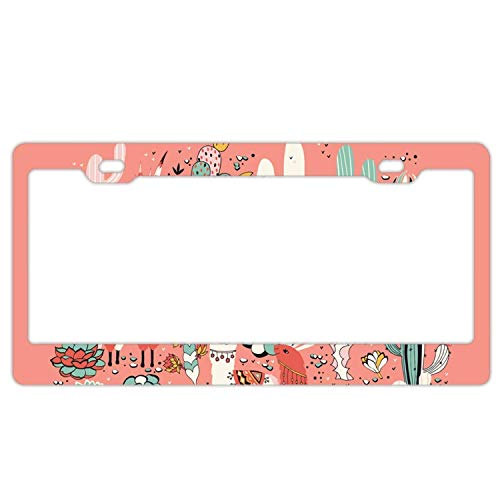 Headwind Tactical License Plate Frame Custom Design - Front Trim tag 12 x 6 inches lama in Cactus Jungles 6 -