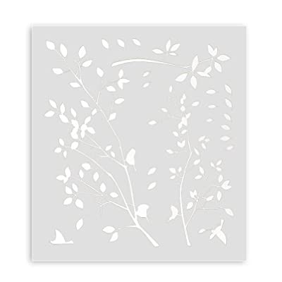 Fashion Tree Branches Birds Leaves Home Wall Stickers Living Room Decals - White