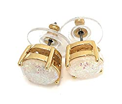 Glitter Round Opaque Earrings