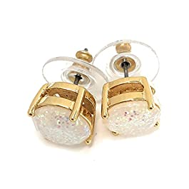Kate Spade Glitter Round Opaque Earrings