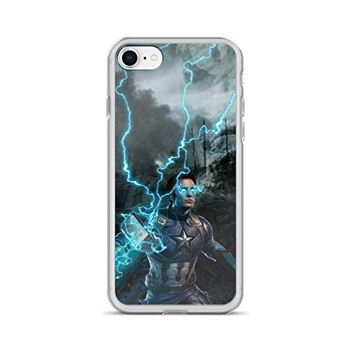 iPhone 7/8 Pure Anti-Scratch Case Captain Shield America with Thor Hammer Steve Rogers Stan Lee Avengerss Movie Shield Comic Superhero (Guardians Of The Galaxy Captain America Shield)