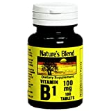 Nature's Blend Vitamin B-1, 100 mg, Tablet, 100 ct (2 Pack) For Sale