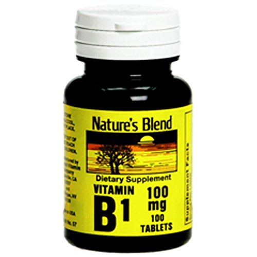 Nature's Blend Vitamin B-1, 100 mg, Tablet, 100 ct (2 Pack)