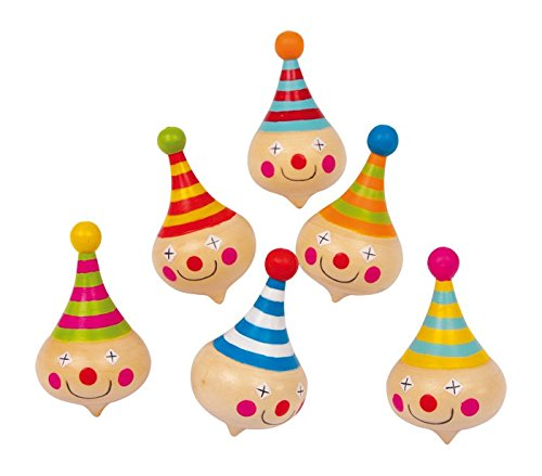 small foot design 6138 Kreisel Clown, 6er Set