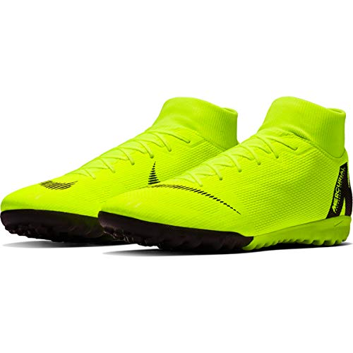Shoes Football Mens Nike - Nike Men's Superfly 6 Academy TF Soccer Shoes (Volt/Black) (8 D US)