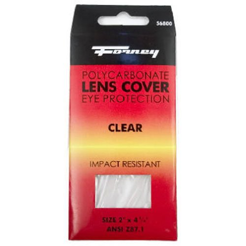 Forney 56800 Cover Lens, Plastic, 2-Inch-by-4-1/4-Inch, Clear