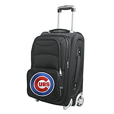 MLB Chicago Cubs Carry-On Luggage, Black, 21  x 14  x 11