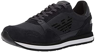 Emporio Armani Men's Lace-Up Sneaker, Navy, 9 Medium UK (10 US),X4X215Xl198T370