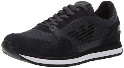 Emporio Armani Men's Lace-Up Sneaker, Navy 9M Medium UK (10.5 US) (Uk Armani)
