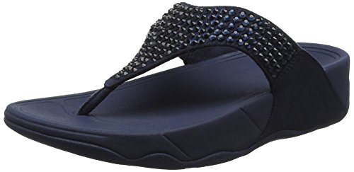Fitflop Glitzie Thong Midnight Toe Sandals Punta Donna 399 Navy Aperta Sandali Blu wwqrSTnF