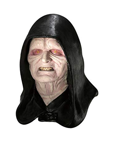 Emperor Palpatine Costume Mask - Rubie's Men's Star Wars Deluxe Adult Latex Emperor Palpatine Mask, Multicolor, One Size