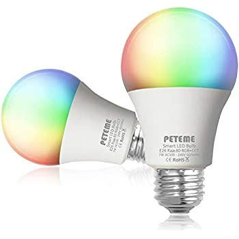 Smart WiFi Light Bulb Dimmable E26 Multicolor Bulb Work with Alexa, Echo, Google Home and IFTTT (No Hub Required), 60W A19 Equivalent RGB Color Changing ...