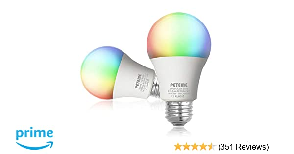 Equivalent Light Iftttno E26 And With A19 Led 60w Wifi Multicolor Hub Smart Rgb Bulb Home Siri Work alexaEchoGoogle RequiredPeteme eCBdxo